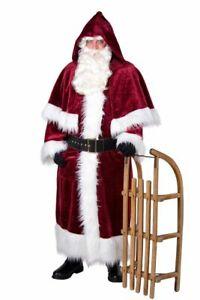 Nikolausmantel Weihnachtsmann Kostüm mit Pellerine
