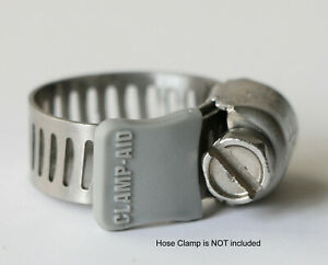 """20 Gray Clamp-aid hose clamp end guards for 5/16"""" wide hose clamp bands"""