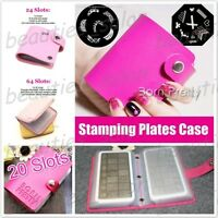 24 / 64 Slots Nail Art Stamping Plate Holder Pouch Stamp Image Template Case
