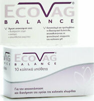 ECOVAG BALANCE Lactobacillus Vaginal Suppositories Intravaginal Care 10 pcs