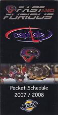 2007-08 COWICHAN VALLEY CAPITALS BCHL HOCKEY POCKET SCHEDULE