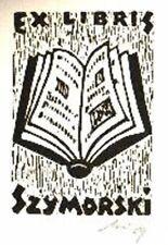 Exlibris Gipsschnitt - Buch - Franz Grickschat Nr 1 signiert