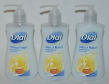 LOT OF 3 DIAL VANILLA HONEY MOISTURIZING LIQUID HAND SOAP WASH 7.5OZ PUMP