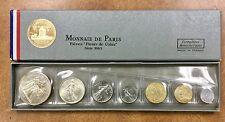 {BJSTAMPS} 1965 MONNAIE DE PARIS FLEUR DE COINS FRANCE  7 COIN SET W/BOX