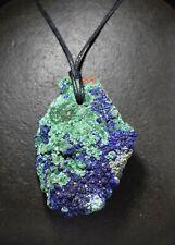 Azurite Malachite gemstone Drusy pendant Bead freeform CAB e