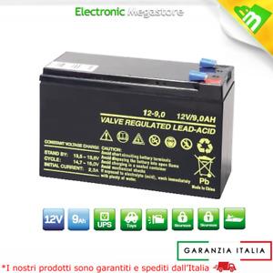 BATTERIA RICARICABILE PIOMBO 12V Volt 9Ah PER BICI ELETTRICHE 6-DZM-10