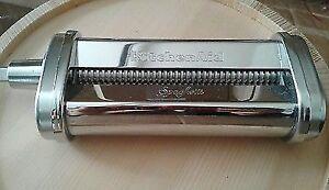 New KitchenAid KSMPRA SPAGHETTI Pasta Roller Attachment, Silver