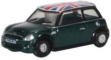 Oxford Diecast NNMN005 New Mini Cooper S British Racing Green Union Flag N Gauge