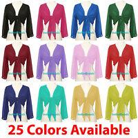 Belly Dance Tie Top Flair Wrap Choli Gypsy Haut Orientale Danse Blouse 25 Colors