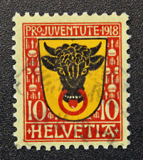 Timbre SUISSE - Stamp SWITZERLAND - Yvert et Tellier n°168 (f) obl (Cyn15)