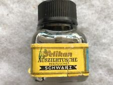PELIKAN ! Schwarz Vintage Ink Bottle, Gunther Wagner, Made In Germany