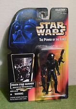 STAR WARS CARDED POWER OF THE FORCE RED CARD DEATH STAR GUNNER