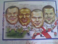 ENGLAND FRONT ROW FORWARDS 1999 RUGBY WORLD CUP PICTURE