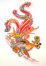 CHINESE PHOENIX BIRD 10cm Embroidered Iron Sew On Cloth Patch Badge  APPLIQUE