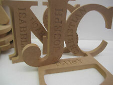 ENGRAVED NAME LETTERS Premium Quality EX LARGE 200mm high