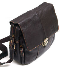 Vintage Style Men's Women's Genuine Leather Messenger Shoulder Bag Satchel-0977