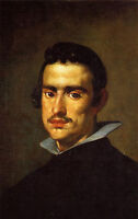 Huge nice Oil painting Diego Velazquez - Portrait of a Young Man with beard