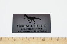 Oviraptor Dinosaur Egg LABEL Fossil