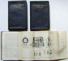 Materiale Elettrico della vettura 3 set di volumi pubblicati 1926 da HOWELL & Co