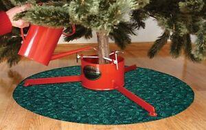 Christmas Tree Skirt, Waterproof Green Mat Holly Pattern