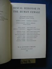 SEXUAL BEHAVIOR IN THE HUMAN FEMALE 1953