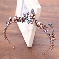 Baroque Crystal Crown Hair Accessories Wedding Bridal Tiaras Headband
