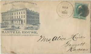 1882 Holden and Leroy AGT Missouri Kansas route agent marking on advertising cov