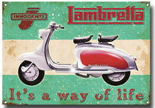 LAMBRETTA IT'S A WAY OF LIFE HIGH GLOSS FINISH METAL SIGN,MODS AND ROCKERS,