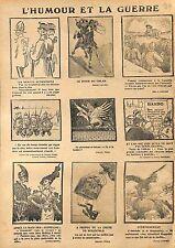 Humour Caricature Uhlan Tommy Feldgrau Berchtold Raid Zeppelins London WWI 1915