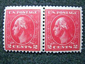 1920 US S# 528be, 2c Washington Perf 11 Carmine T7, 2v  Double Impression MLH OG