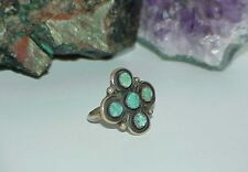 Vintage NAVAJO Sterling Turquoise Stars Women's Men's RING Sz8 Antique Handmade