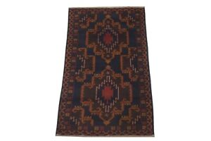 """3X7 Afghan Tribal Hand-Knotted Area Rug Wool Oriental Carpet (3'5"""" x 6'10"""")"""