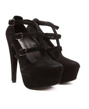 Mollini Black Suede Heel Size 37 Or 7 Au