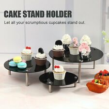 3 Tier Round Acrylic Cake Cupcake Stand Dessert Display Holder Wedding Party v