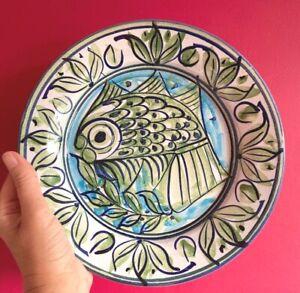 Porches  Algarve  Studio  Pottery Hand Painted  Fish Plate 1988