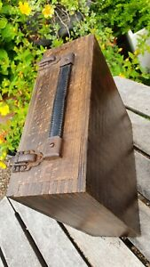 Old Wooden Compass or Scientific Instrument box