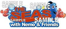 Disney World Epcot The Seas Nemo & Friends Title Scrapbook Paper Die Cut Piece