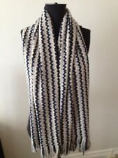BNWTs MISSONI scarf/shawl/poncho, monochrome grey, black, white, wool. Classic.
