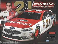 "2016 RYAN BLANEY ""MOTORCRAFT FORD FUSION"" #21 NASCAR SPRINT CUP POSTCARD"
