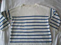 WOMEN'S KIN by JOHN LEWIS BOAT-NECK BRETON JUMPER  M  uk 12-14  nautical stripe