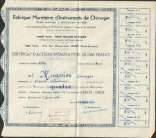 Fabrique Muretaine d'INSTRUMENTS de CHIRURGIE (MURET 31) (W)