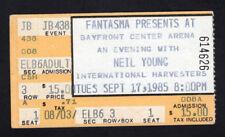 1985 Neil Young & International Harvesters concert ticket stub St Petersburg FL