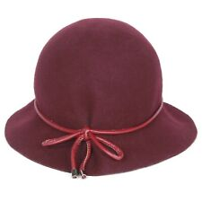 EUGENIA KIM GENIE Retro Cloche Hat Plum Maisel 1950s Art Deco 1920s Wool Felt OS