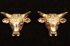 14K Yellow Gold Texas Longhorn Cufflinks - Custom Made Unique