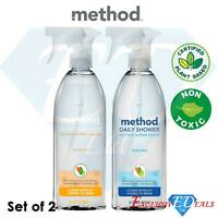2 x Assorted Method Daily Shower Surface Cleaner 828ml Non-Toxic Plant Based
