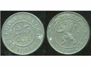 BELGIUM  BELGIQUE  WW1  25 centimes 1916  ( belgique  belgie )   ( etat )