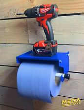 MegaMaxx Industrial Paper Towel & Blue Roll Holder - Workshop   Factory   Shed