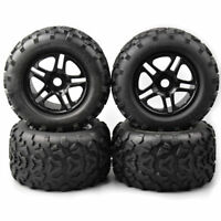 4PCS 1:8 Bigfoot Monster Truck Car RC Rubber Tires&Wheel 17mm Hex For HSP HPI