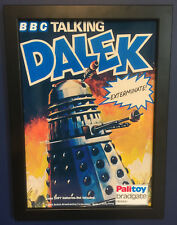 Dr Who Dalek Vintage Framed Poster A4 Size Shop Display Sign Leaflet 1975