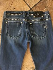 Miss Me Boot Jeans  Size 27 Metal Details